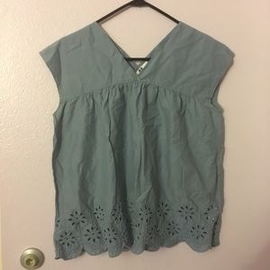 Women's M Blue Top